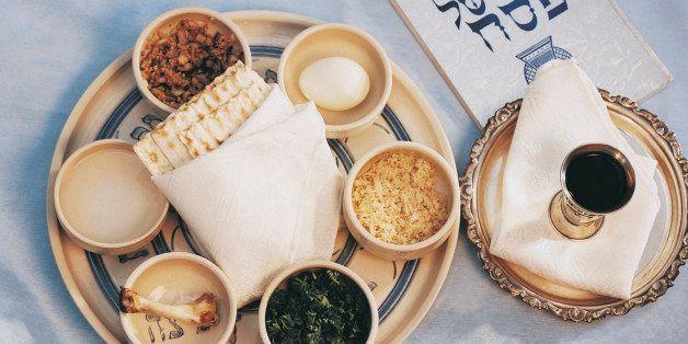 Close-Up of Traditional Jewish Food