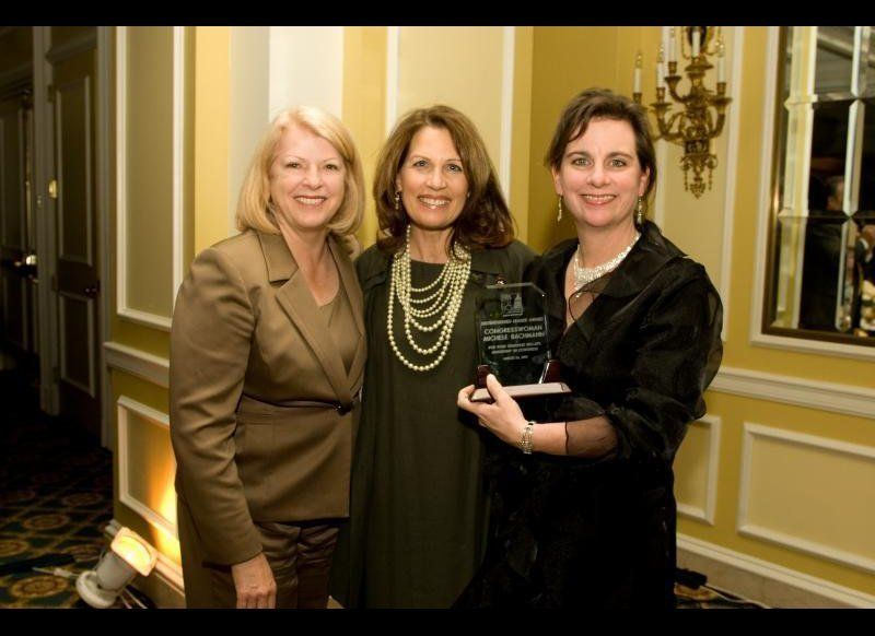 "Bachmann received the pro-life group's ""Distinguished Leader"" award at their 2010 gala in Washington, D.C. Her former GOP pre"