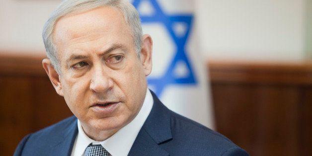 Israeli Prime Minister Benjamin Netanyahu speaks during the weekly cabinet meeting in Jerusalem. Sunday, Feb. 14, 2016. (AP P
