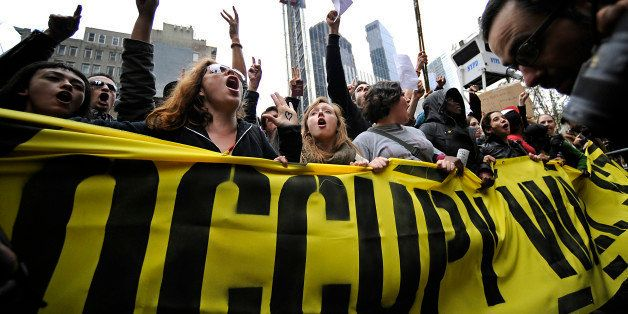 Demonstrators from the Occupy Wall Street movement march from Foley Square back to Zuccoti Park in New York, U.S., on Tuesday
