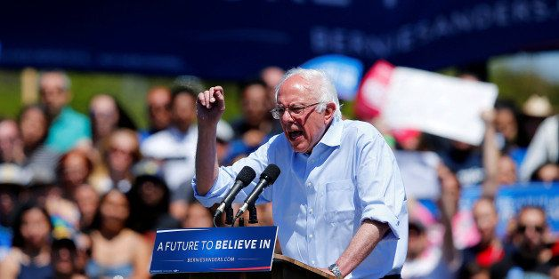 U.S. Democratic presidential candidate Bernie Sanders speaks at a rally in Vista, California, United States, May 22, 2016.REU