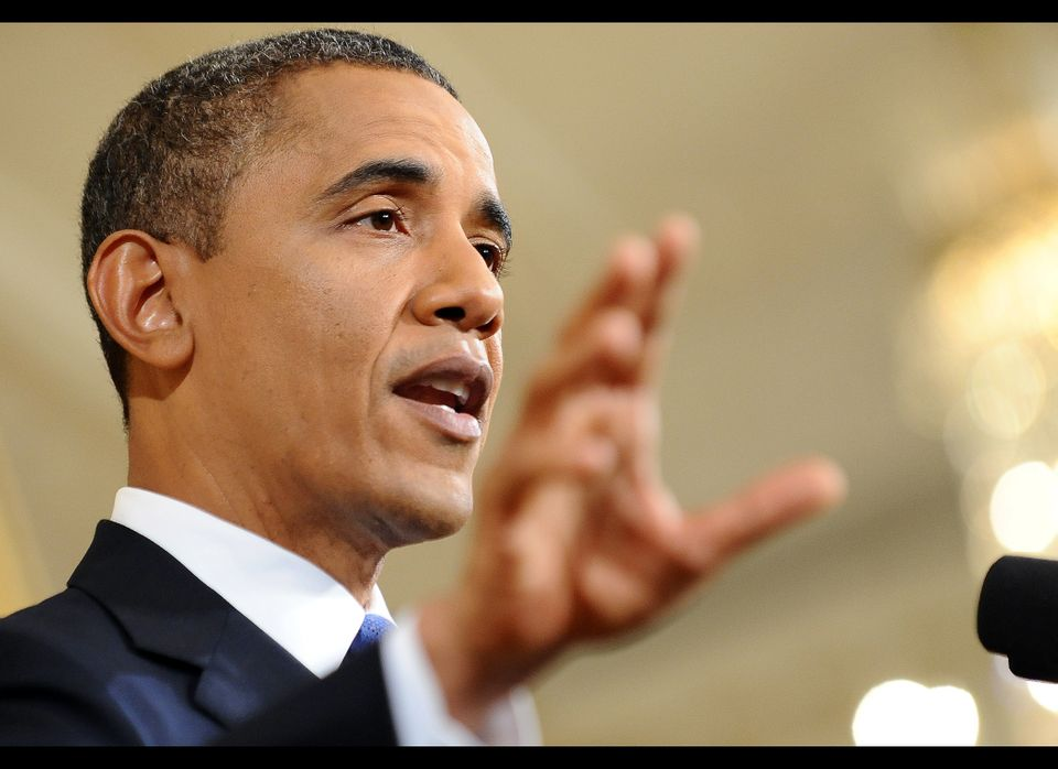 Speaking at a press conference Oct. 6 to urge congress to pass his jobs bill, President Barack Obama weighed in on the Occupy
