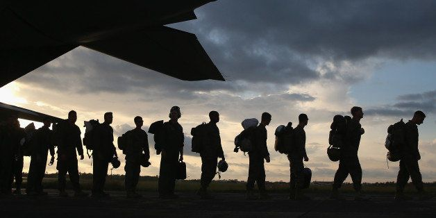 MONROVIA, LIBERIA - OCTOBER 09:  U.S. Marines arrive to take part in Operation United Assistance on October 9, 2014 near Monr