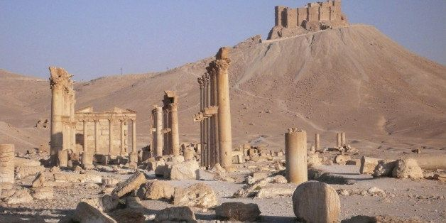 Ruins of the ancient city of Palmyra in Syria.