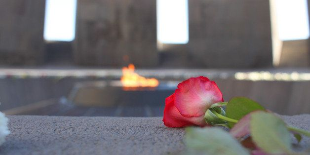 Armenian Genocide Memorial Complex (Tsitsernakaberd) in Yerevan, Armenia. Built in 1967 and dedicated to the victims of Armen