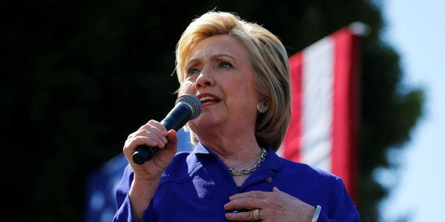 U.S. Democratic presidential candidate Hillary Clinton makes a campaign stop and speech in Los Angeles, California, United St