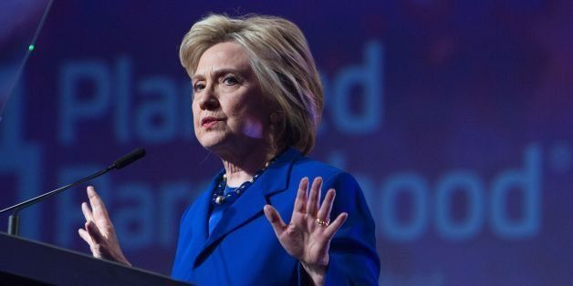 US Democratic presidential candidate Hillary Clinton addresses the Planned Parenthood Action Fund in Washington, DC, on June