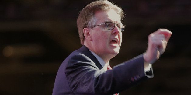 Lt. Gov. Dan Patrick speaks at the Republican Party of Texas State Convention at the Kay Bailey Hutchison Convention Center,