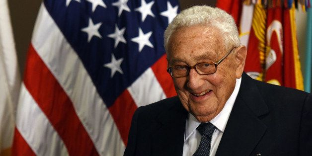 WASHINGTON D.C., May 10, 2016 -- Former U.S. Secretary of State Henry Kissinger is seen at an award ceremony hold by U.S. Def