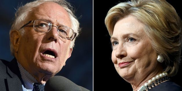 This combination of file photos shows Democratic presidential hopefuls Bernie Sanders(L)on March 31, 2016 and Hillary Clinton