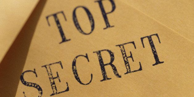 Envelope stamped top secret