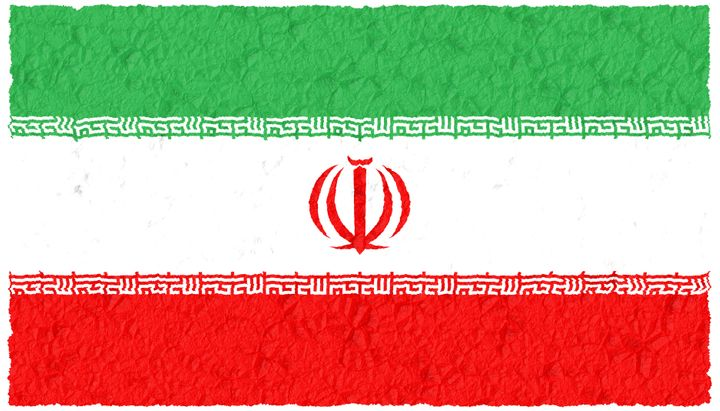 crumple grunge flag of iran