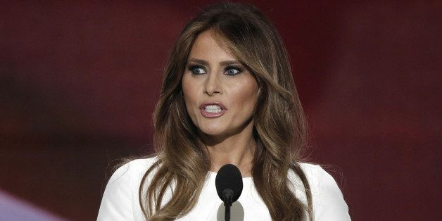 Melania Trump, wife of Republican U.S. presidential candidate Donald Trump, speaks at the Republican National Convention in C
