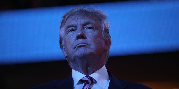 Donald Trump, 2016 Republican presidential nominee, listens during the Republican National Convention (RNC) in Cleveland, Ohi