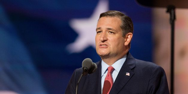 CLEVELAND, OH - JULY 20:  Ted Cruz speaks on the third day of the Republican National Convention on July 20, 2016 at the Quic