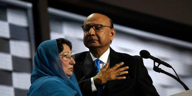 PHILADELPHIA, PA - JULY 28: Khizr Khan addresses  the Democratic National Convention in Philadelphia on Thursday, July 28, 2