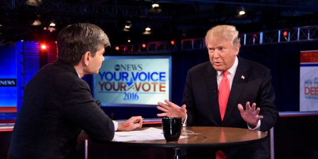 THIS WEEK - 2/7/16 - Following the Republican Presidential Debate, George Stephanopoulos interviews Donald Trump and Marco Ru