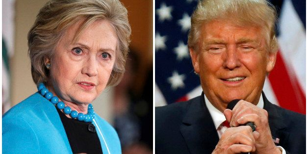 A combination photo shows U.S. Democratic presidential candidate Hillary Clinton (L) and Republican U.S. presidential candida