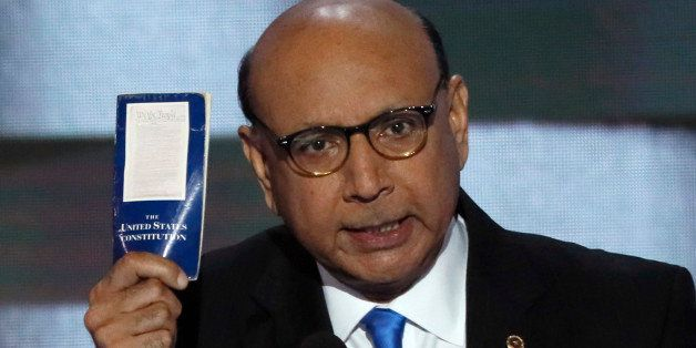 Khizr Khan, whose son, Humayun S. M. Khan was one of 14 American Muslims who died serving in the U.S. Army  in the 10 years a