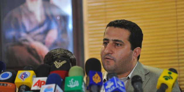 TEHRAN, IRAN - JULY 15:  Shahram Amiri speaks to journalists during a press conference after arriving at Imam Khomini Airport