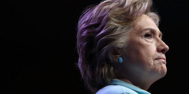 WASHINGTON, DC - AUGUST 05:  Democratic presidential nomiee Hillary Clinton addresses the National Association of Black Journ