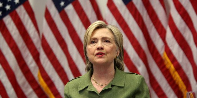 MANHATTAN, NY - AUGUST 18: U.S. Presidential candidate Hillary Clinton meets with law enforcement experts at the John Jay Col