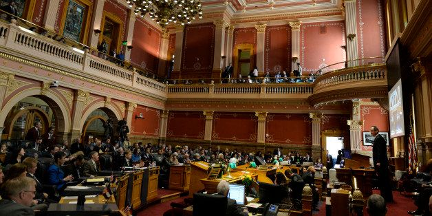 DENVER, CO - January 13: Colorado Senate President Bill Cadman, R-Colorado Springs gives a speech on opening day of the 2016