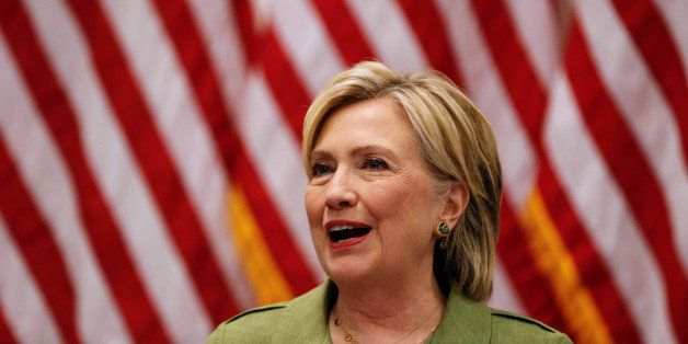 U.S. Democratic presidential nominee Hillary Clinton delivers remarks at a gathering of law enforcement leaders at John Jay C