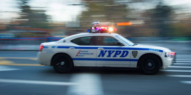 NYPD's units patrol 59th Street before the Macy's Thanksgiving Day Parade on Thursday, Nov. 26, 2015, in New York. (Photo by