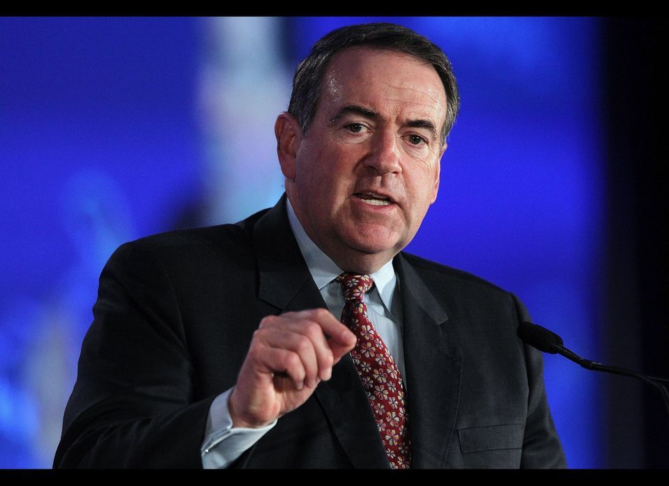 <strong>Mike Huckabee (R)</strong> won the Iowa caucus, beating out Mitt Romney, who won the Iowa Ames Straw Poll that year.