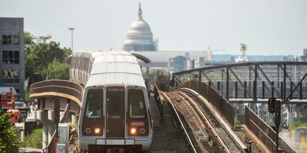 UNITED STATES - SEPTEMBER 02: A Red Line Metro train pulls out of the Rhode Island Avenue station, September 2, 2016. (Photo