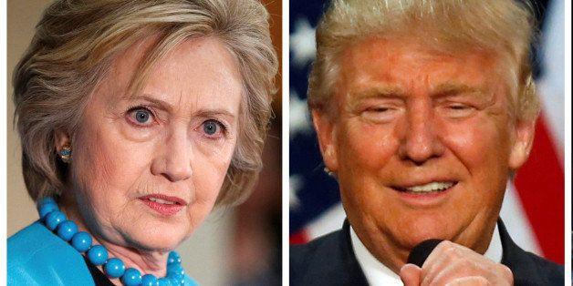 A combination of file photos show L-R: U.S. Democratic presidential candidate Hillary Clinton, Republican U.S. presidential c