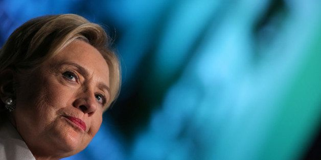 Democratic nominee Hillary Clinton pauses as she speaks at the Congressional Black Caucus Foundation's Phoenix Awards Dinner