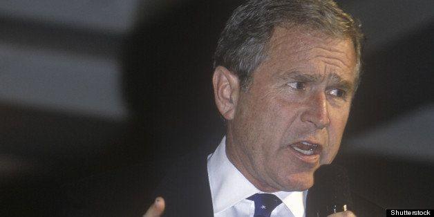 george w. bush speaking at...