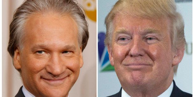 This combination photo shows Bill Maher in Hollywood, California, February 22, 2009 and Donald Trump in Las Vegas, Nevada, De