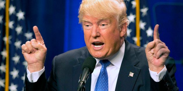 Republican presidential candidate Donald Trump speaks at Saint Anselm College Monday, June 13, 2016, in Manchester, N.H. Trum