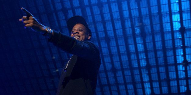 Jay-Z performs onstage at the Tidal X: 1020 Amplified by HTC concert at the Barclays Center on Tuesday, Oct. 20, 2015 in Broo