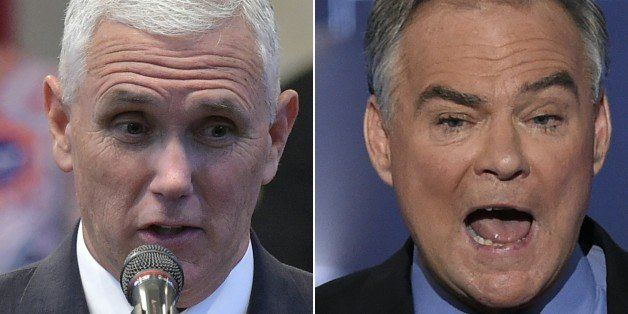 (COMBO) This combination of pictures created on October 3, 2016 shows Republican Vice Presidential nominee and running mate