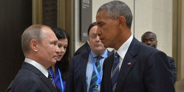 Russian President Vladimir Putin (L) meets with U.S. President Barack Obama on the sidelines of the G20 Summit in Hangzhou, C