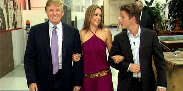 VIDEO FRAME GRAB: In this 2005 frame from video, Donald Trump prepares for an appearance on 'Days of Our Lives' with actress