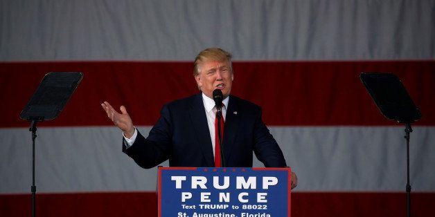Republican U.S. presidential nominee Donald Trump speaks during a rally in St. Augustine, Florida, U.S. October 24, 2016. REU