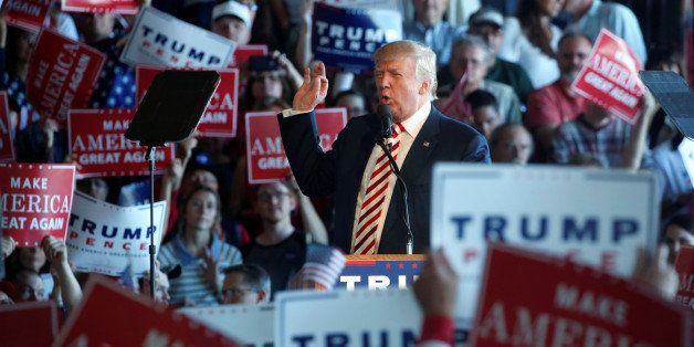 Republican presidential nominee Donald Trump holds a campaign rally in Grand Junction, Colorado, U.S. October 18, 2016. REUTE