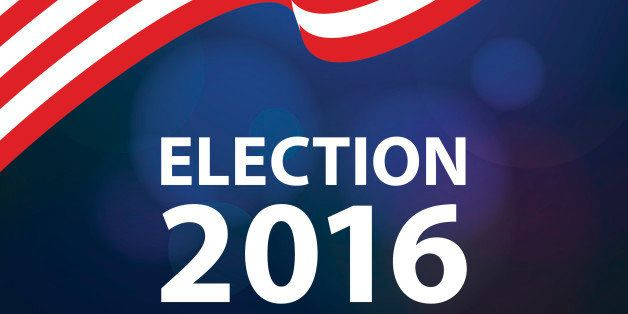 American flag background for election 2016.