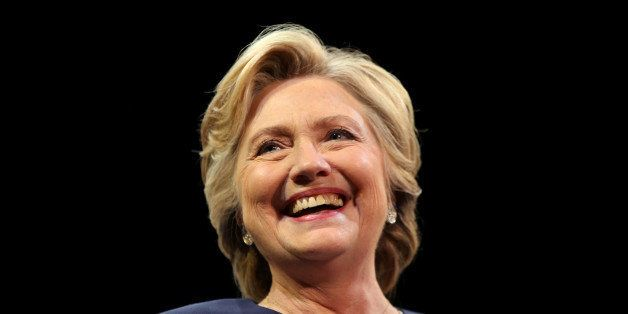 U.S. Democratic presidential nominee Hillary Clinton smiles as she greets the crowd at a fundraiser in San Francisco, Califor