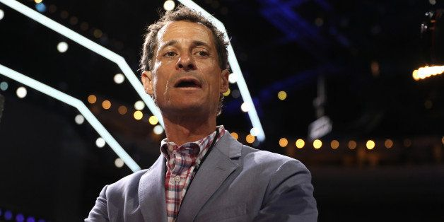 PHILADELPHIA, PA - JULY 26: Former New York congressman Anthony Weiner walks the floor prior to the start of the second day o