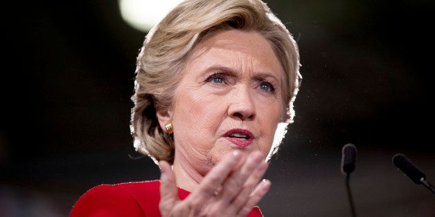 Democratic presidential candidate Hillary Clinton speaks at a rally at Kent State University in Kent, Ohio, Monday, Oct. 31,