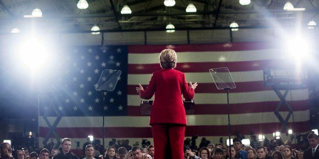 CLEVELAND, OH - Democratic Nominee for President of the United States former Secretary of State Hillary Clinton speaks to and