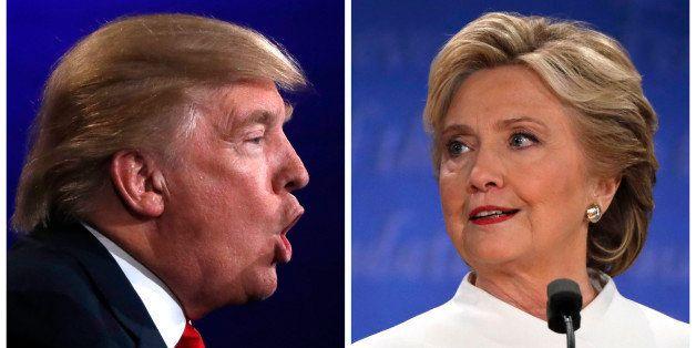 A combination photo shows Republican U.S. presidential nominee Donald Trump (L) and Democratic presidential nominee Hillary C