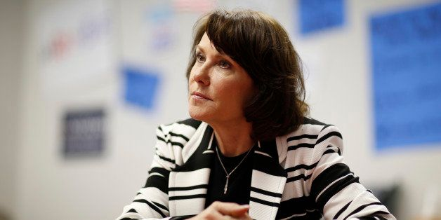 In this April 27, 2016, photo, Jacky Rosen, Democratic candidate for Nevada's third congressional district, speaks with the A