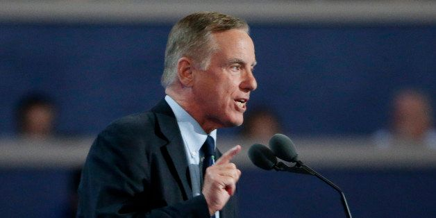 Former Governor of Vermont Howard Dean speaks at the Democratic National Convention in Philadelphia, Pennsylvania, U.S. July